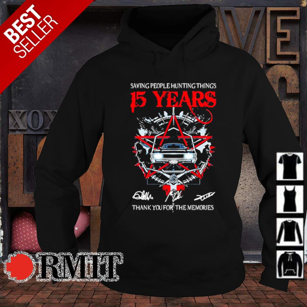Saving people hunting things 15 years thank you for the memories s hoodie1