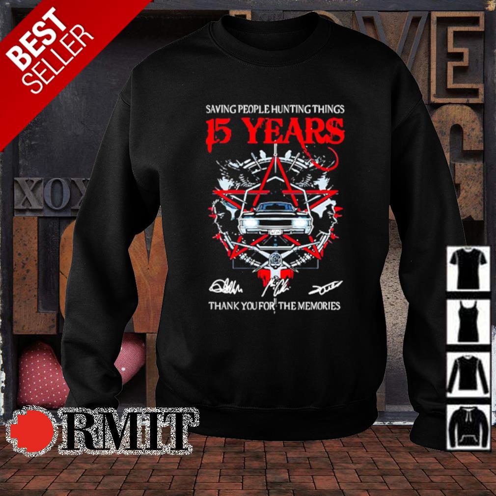 Saving people hunting things 15 years thank you for the memories s sweater1