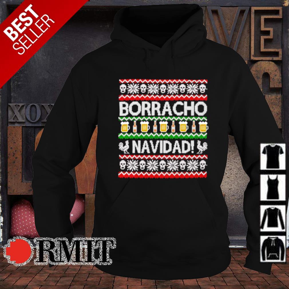 Skull borracho navidad beer Christmas s hoodie1