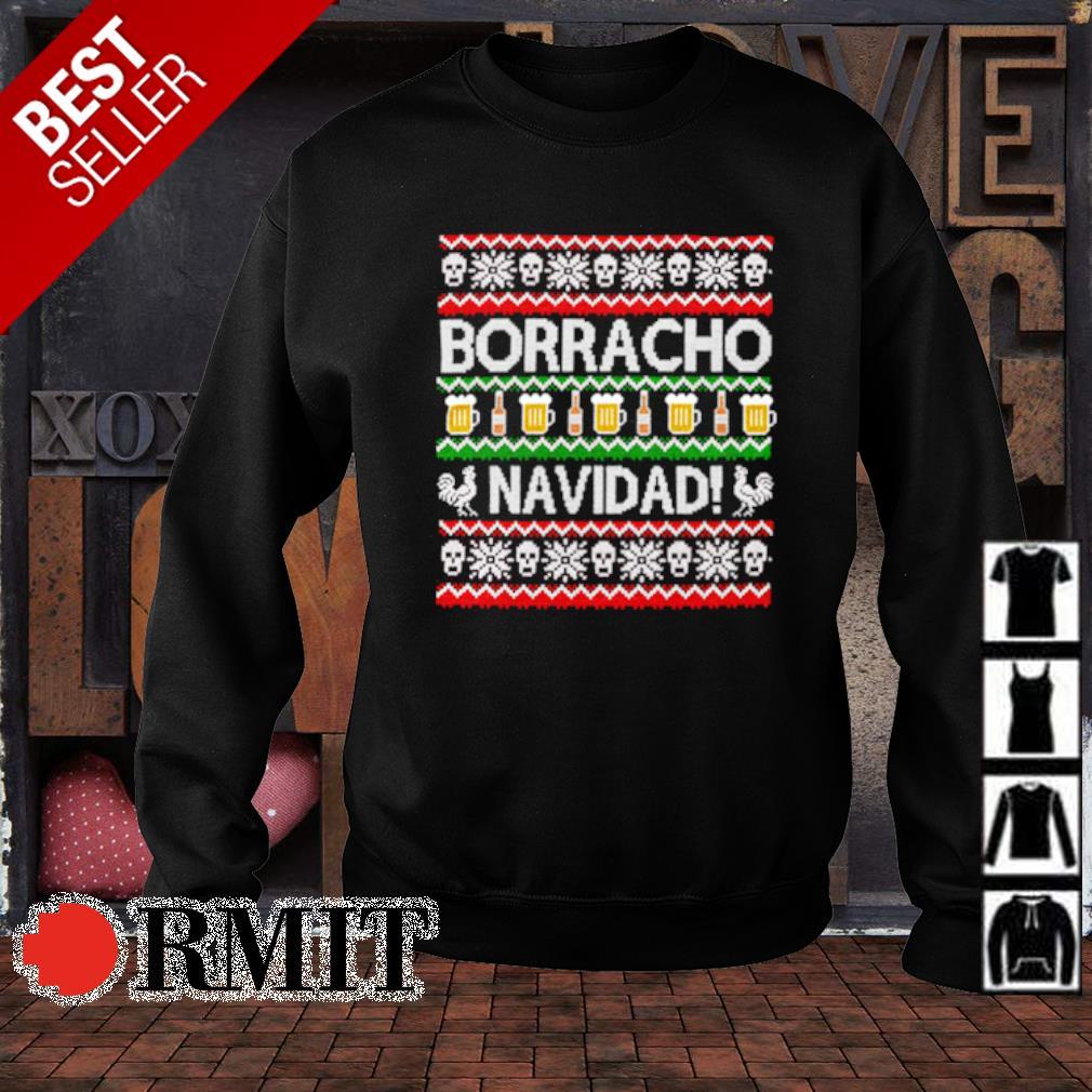 Skull borracho navidad beer Christmas s sweater1