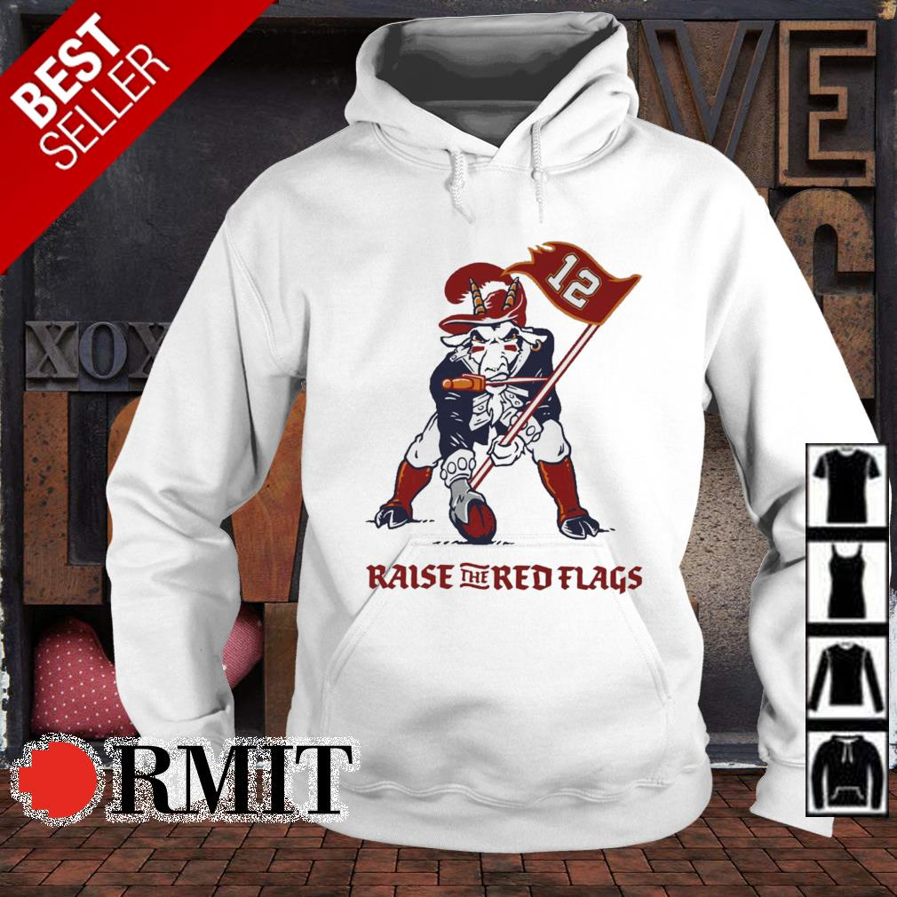 Tom Brady Goat raise the red flags s hoodie