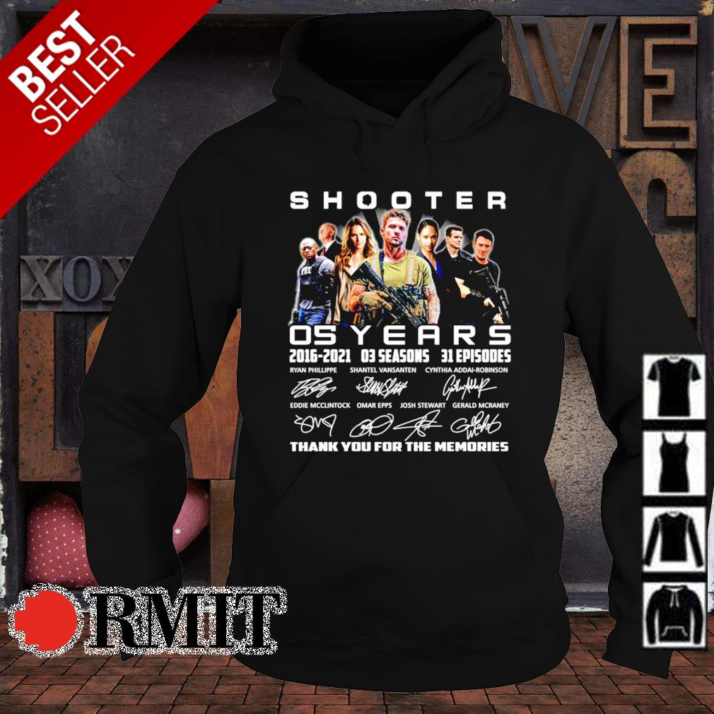 05 years of Shooter 2016 2021 thank you for the memories s hoodie1