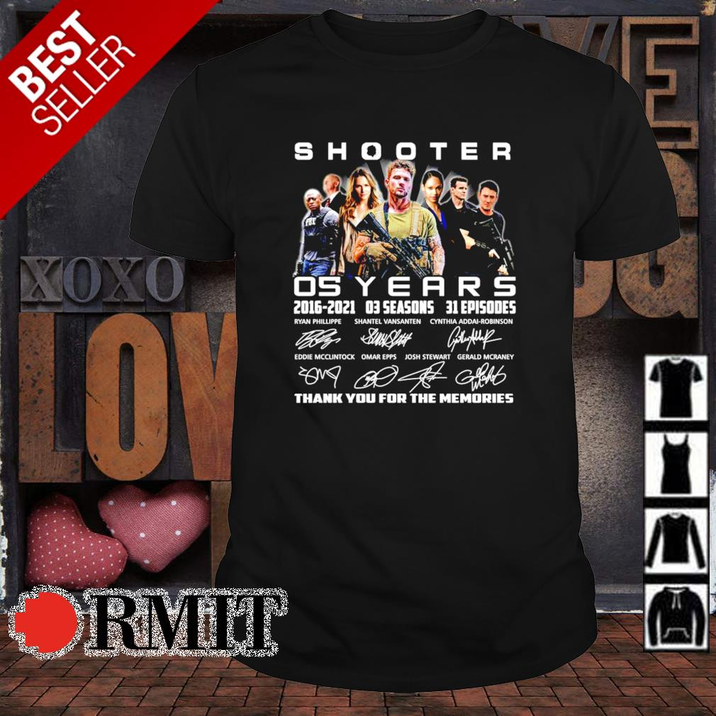 05 years of Shooter 2016 2021 thank you for the memories shirt