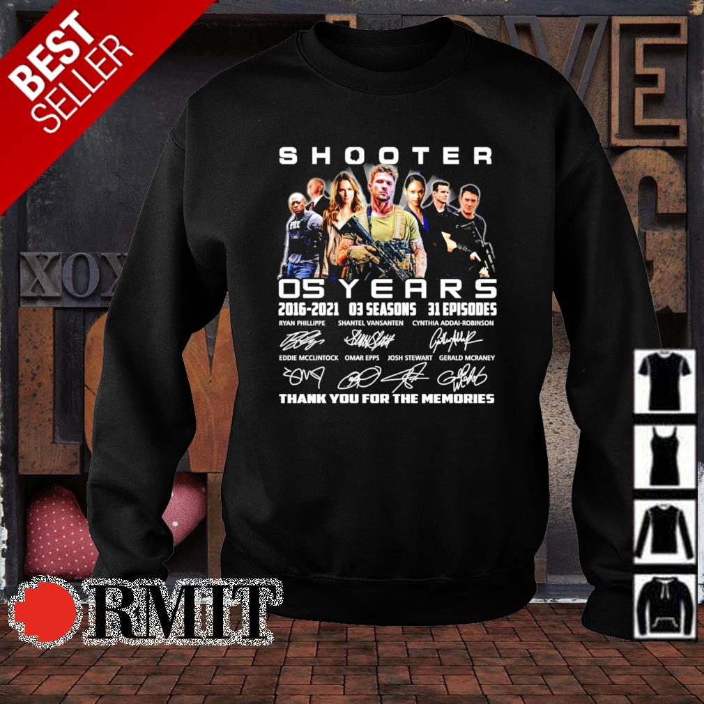 05 years of Shooter 2016 2021 thank you for the memories s sweater1